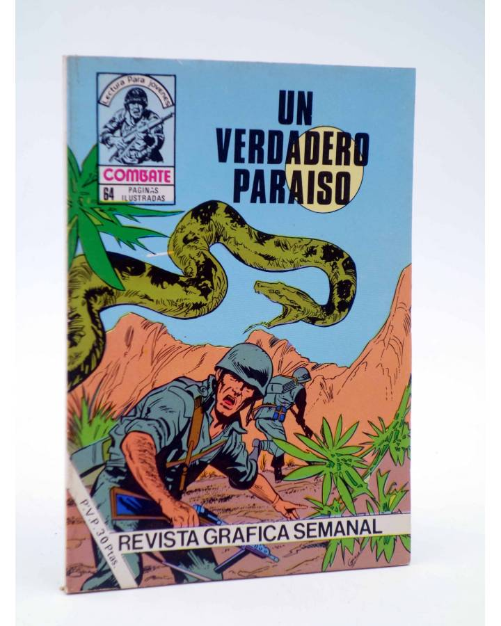 Cubierta de COMBATE 243. UN VERDADERO PARAÍSO. Producciones Editoriales 1981