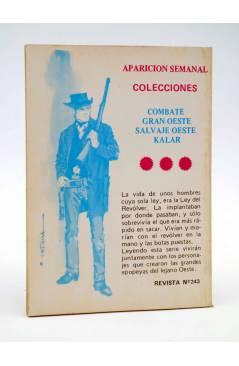 Contracubierta de COMBATE 243. UN VERDADERO PARAÍSO. Producciones Editoriales 1981