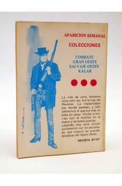 Contracubierta de COMBATE 247. MISIÓN EN KURDISTÁN. Producciones Editoriales 1981