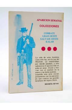 Contracubierta de COMBATE 248. EL FRACASO. Producciones Editoriales 1981