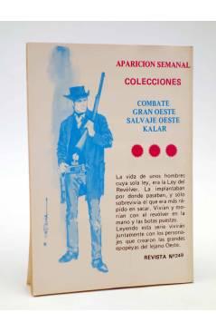 Contracubierta de COMBATE 249. MÉDICOS DE CAMPO. Producciones Editoriales 1981