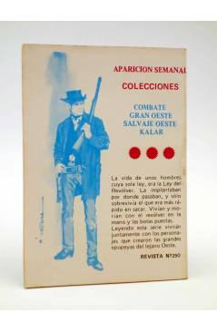 Contracubierta de COMBATE 250. ARAKAN. Producciones Editoriales 1981