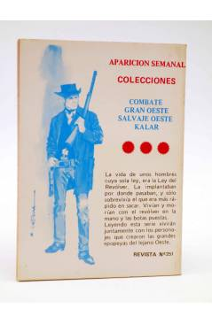 Contracubierta de COMBATE 251. LA TRAMPA. Producciones Editoriales 1981