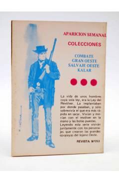 Contracubierta de COMBATE 253. TUMBA ABIERTA. Producciones Editoriales 1981
