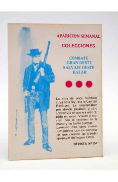 Contracubierta de COMBATE 254. ¡HAGAN JUEGO!. Producciones Editoriales 1981