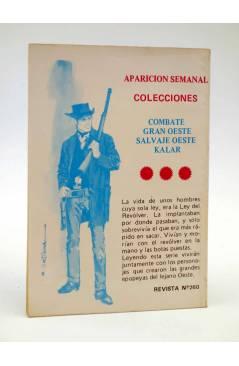 Contracubierta de COMBATE 260. LA RUTA DE LA EVASIÓN. Producciones Editoriales 1981