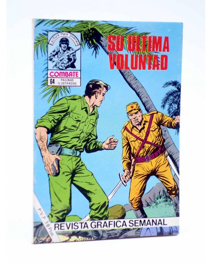 Cubierta de COMBATE 261. SU ÚLTIMA VOLUNTAD. Producciones Editoriales 1981