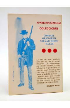 Contracubierta de COMBATE 261. SU ÚLTIMA VOLUNTAD. Producciones Editoriales 1981