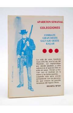 Contracubierta de COMBATE 264. LA BATALLA DE LOS MOSQUITOS (útimo nº). Producciones Editoriales 1981