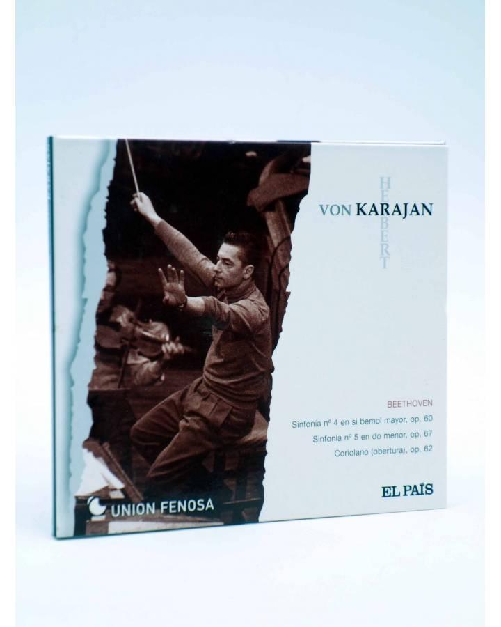 Cubierta de CD HERBERT VON KARAJAN 1. BEETHOVEN: SINFONÍAS Nº 4 Y 8. CORIOLANO (Von Karajan) El País 2008