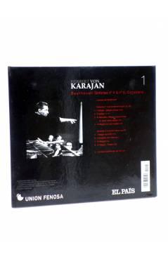 Contracubierta de CD HERBERT VON KARAJAN 1. BEETHOVEN: SINFONÍAS Nº 4 Y 8. CORIOLANO (Von Karajan) El País 2008