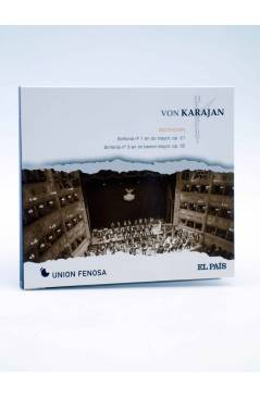 Cubierta de CD HERBERT VON KARAJAN 2. BEETHOVEN: SINFONÍAS Nº 1 Y Nº 3. CORIOLANO (Von Karajan) El País 2008