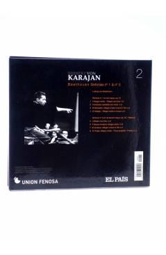 Contracubierta de CD HERBERT VON KARAJAN 2. BEETHOVEN: SINFONÍAS Nº 1 Y Nº 3. CORIOLANO (Von Karajan) El País 2008
