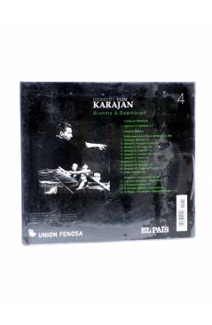Contracubierta de CD HERBERT VON KARAJAN 4. BRAHMS & BEETHOVEN (Von Karajan) El País 2008