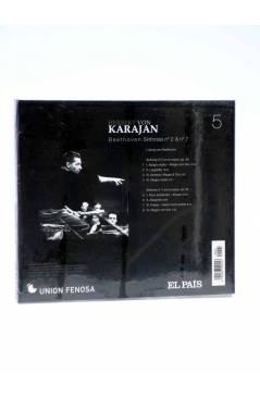 Contracubierta de CD HERBERT VON KARAJAN 5. BEETHOVEN: SINFÓNÍAS Nº 2 Y Nº 7 (Von Karajan) El País 2008