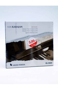 Cubierta de CD HERBERT VON KARAJAN 8. BEETHOVEN: SINFONÍAS Nº 6 Y Nº 8. EGMONT (Von Karajan) El País 2008