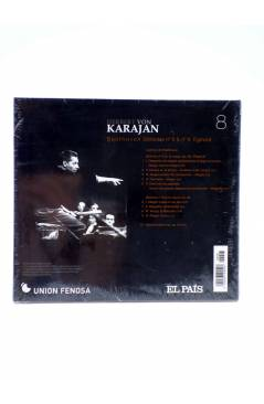 Contracubierta de CD HERBERT VON KARAJAN 8. BEETHOVEN: SINFONÍAS Nº 6 Y Nº 8. EGMONT (Von Karajan) El País 2008