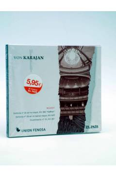 Cubierta de CD HERBERT VON KARAJAN 9. MOZART: SINFONÍAS Nº 35 Y Nº 39. DIVERTIMENTO Nº 1 (Von Karajan) El País 2008