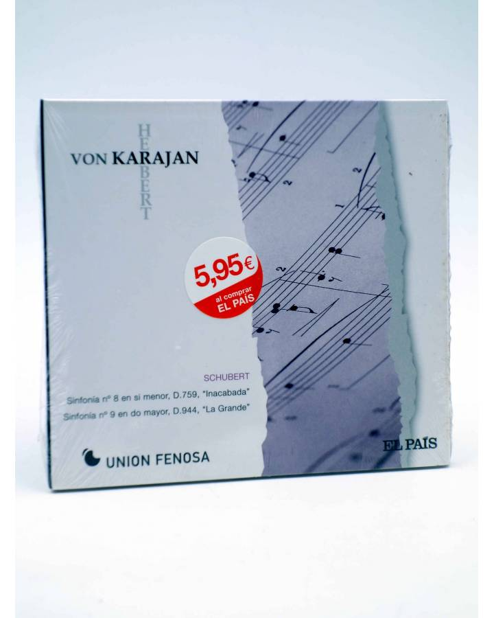 Cubierta de CD HERBERT VON KARAJAN 13. SCHUBERT: SINFONÍAS Nº 8 Y Nº 9 (Von Karajan) El País 2008