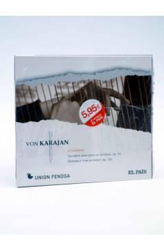 Cubierta de CD HERBERT VON KARAJAN 14. SCHUMANN: CONCIERTO PARA PIANO Y SINFONÍA Nº 4 (Von Karajan) El País 2008