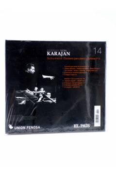 Contracubierta de CD HERBERT VON KARAJAN 14. SCHUMANN: CONCIERTO PARA PIANO Y SINFONÍA Nº 4 (Von Karajan) El País 2008