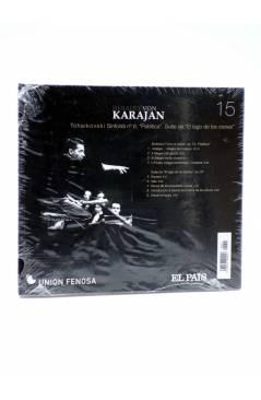 Contracubierta de CD HERBERT VON KARAJAN 15. TCHAIKOVSKI: SINFONÍA Nº 6 PATÉTICA. SUITE DE EL LAGO DE LOS CISNES (Von Ka
