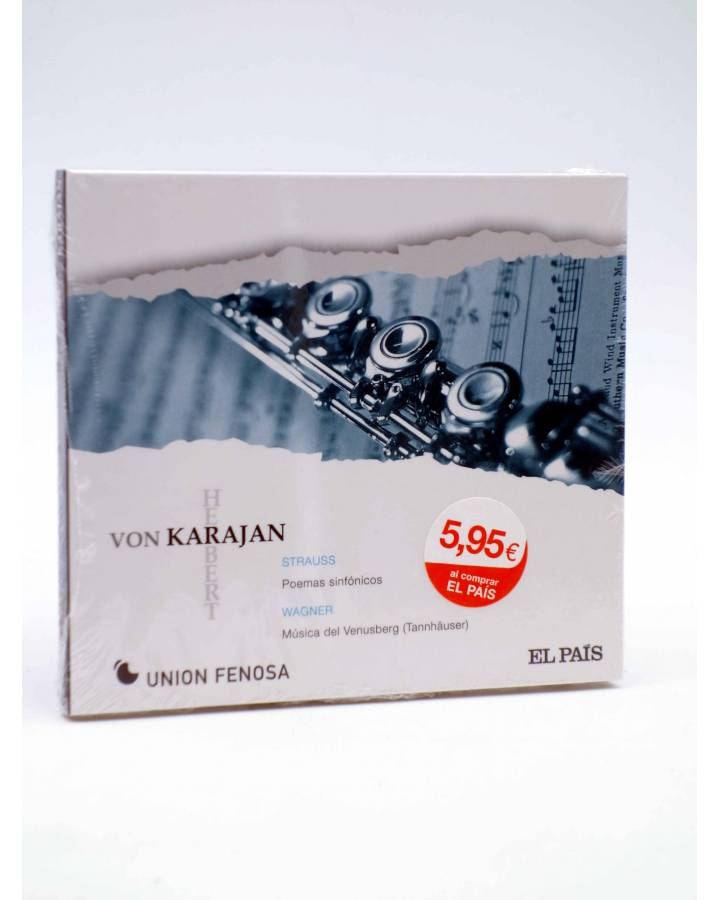 Cubierta de CD HERBERT VON KARAJAN 18. STRAUSS & WAGNER (Von Karajan) El País 2008