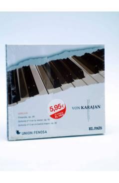 Cubierta de CD HERBERT VON KARAJAN 22. SIBELIUS FINLANDIA: SINFONÍAS Nº 4 Y Nº 5 (Von Karajan) El País 2008