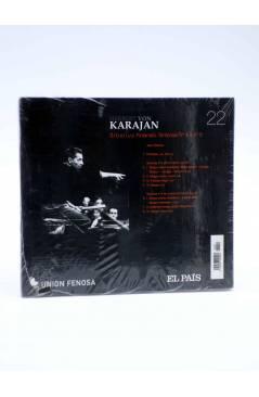 Contracubierta de CD HERBERT VON KARAJAN 22. SIBELIUS FINLANDIA: SINFONÍAS Nº 4 Y Nº 5 (Von Karajan) El País 2008