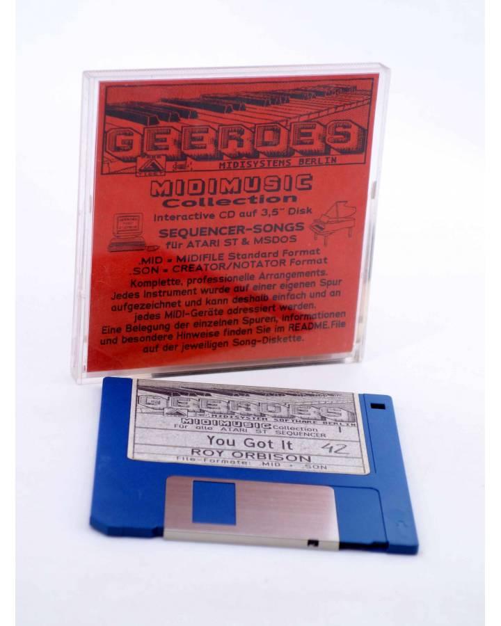 "Cubierta de YOU GOT IT (Roy Orbison) Geerdes Midisystem 1989. DISKETTE 35"". ATARI MSDOS. MIDI MUSIC"