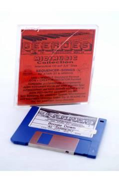 "Cubierta de BOOGIE DOWN (Al Jarreau) Geerdes Midisystem 1989. DISKETTE 35"". ATARI MSDOS. MIDI MUSIC"