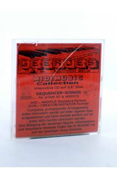 "Contracubierta de BOOGIE DOWN (Al Jarreau) Geerdes Midisystem 1989. DISKETTE 35"". ATARI MSDOS. MIDI MUSIC"