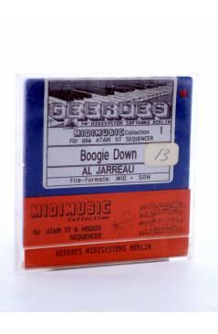"Muestra 1 de BOOGIE DOWN (Al Jarreau) Geerdes Midisystem 1989. DISKETTE 35"". ATARI MSDOS. MIDI MUSIC"