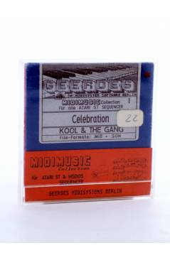 "Contracubierta de CELEBRATION (Kool & The Gang) Geerdes Midisystem 1989. DISKETTE 35"". ATARI MSDOS. MIDI MUSIC"