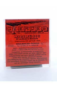 "Contracubierta de OYE MI CANTO (Gloria Estefan) Geerdes Midisystem 1989. DISKETTE 35"". ATARI MSDOS. MIDI MUSIC"
