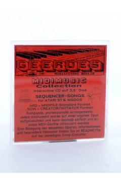 "Contracubierta de ANOTHER DAY IN PARADISE (Phil Collins) Geerdes Midisystem 1989. DISKETTE 35"". ATARI MSDOS. MIDI"
