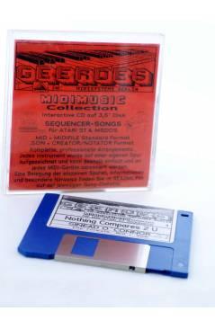 """Cubierta de NOTHING COMPARES 2U (Sinead O'Connor) Geerdes Midisystem 1989. DISKETTE 35"""". ATARI MSDOS. MIDI"""