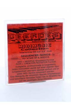 """Contracubierta de NOTHING COMPARES 2U (Sinead O'Connor) Geerdes Midisystem 1989. DISKETTE 35"""". ATARI MSDOS. MIDI"""