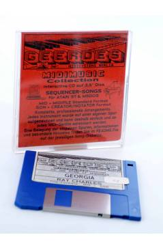 "Cubierta de GEORGIA (Ray Charles) Geerdes Midisystem 1989. DISKETTE 35"". ATARI MSDOS. MIDI MUSIC"