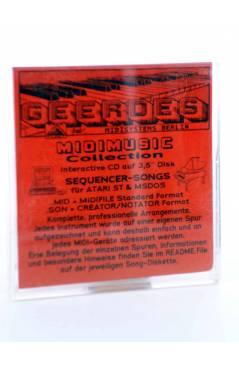 "Contracubierta de GEORGIA (Ray Charles) Geerdes Midisystem 1989. DISKETTE 35"". ATARI MSDOS. MIDI MUSIC"