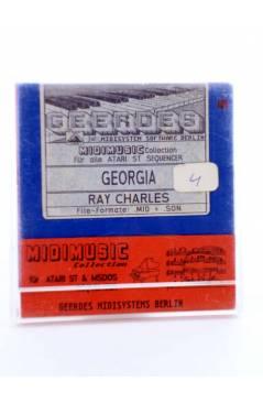 "Muestra 1 de GEORGIA (Ray Charles) Geerdes Midisystem 1989. DISKETTE 35"". ATARI MSDOS. MIDI MUSIC"
