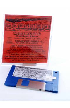 "Cubierta de KILLING ME SOFTLY (Roberta Flack) Geerdes Midisystem 1989. DISKETTE 35"". ATARI MSDOS. MIDI MUSIC"