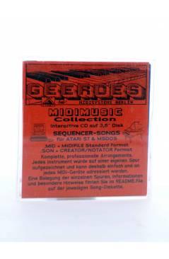 "Contracubierta de KILLING ME SOFTLY (Roberta Flack) Geerdes Midisystem 1989. DISKETTE 35"". ATARI MSDOS. MIDI MUSIC"