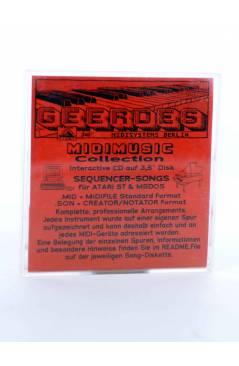 "Contracubierta de SIR DUKE (Stevie Wonder) Geerdes Midisystem 1989. DISKETTE 35"". ATARI MSDOS. MIDI MUSIC"