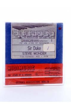 "Muestra 1 de SIR DUKE (Stevie Wonder) Geerdes Midisystem 1989. DISKETTE 35"". ATARI MSDOS. MIDI MUSIC"