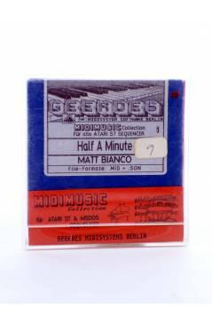 "Muestra 1 de HALF A MINUTE (Matt Bianco) Geerdes Midisystem 1989. DISKETTE 35"". ATARI MSDOS. MIDI MUSIC"