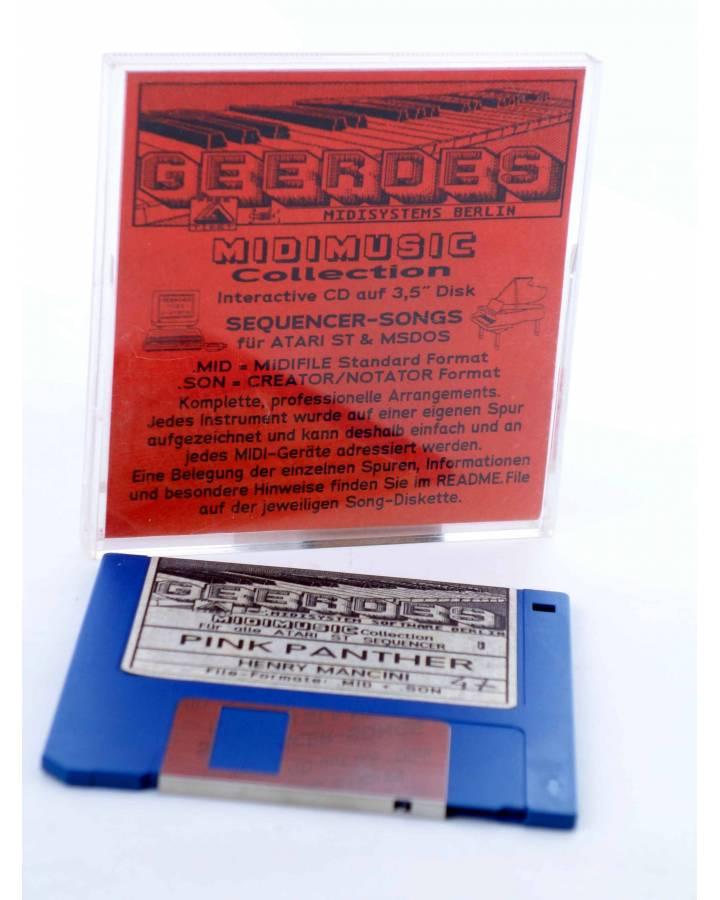 "Cubierta de PINK PANTHER (Henry Mancini) Geerdes Midisystem 1989. DISKETTE 35"". ATARI MSDOS. MIDI MUSIC"