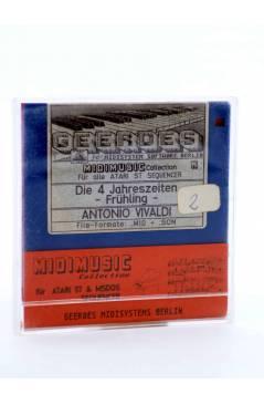 """Muestra 1 de DIE 4 JAHRESZEITEN -FRÜHLING (Vivaldi) Geerdes Midisystem 1989. DISKETTE 35"""". ATARI MSDOS. MIDI"""