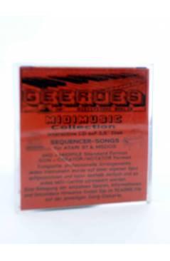 "Contracubierta de REGGAE NEGHT (Jimmy Cliff) Geerdes Midisystem 1989. DISKETTE 35"". ATARI MSDOS. MIDI MUSIC"