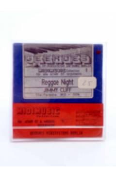 "Muestra 1 de REGGAE NEGHT (Jimmy Cliff) Geerdes Midisystem 1989. DISKETTE 35"". ATARI MSDOS. MIDI MUSIC"
